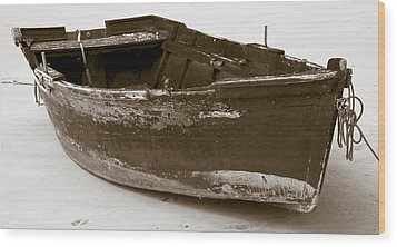 Boat Wood Print by Frank Tschakert