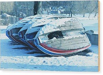 Boat Hire On Holiday Wood Print by Jutta Maria Pusl