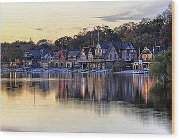Boat House Row In Philadelphia  Wood Print
