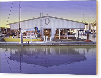 Wood Print featuring the photograph Boat House by Sonya Lang