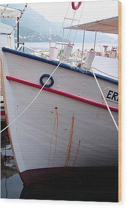 Boat Hull Wood Print