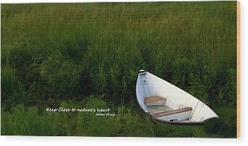 Wood Print featuring the photograph Boat In The Marsh by Caroline Stella