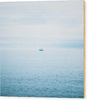 Fishing Boat  Wood Print by Tetyana Kokhanets