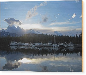 Boat Line Up Wood Print by Mike Podhorzer
