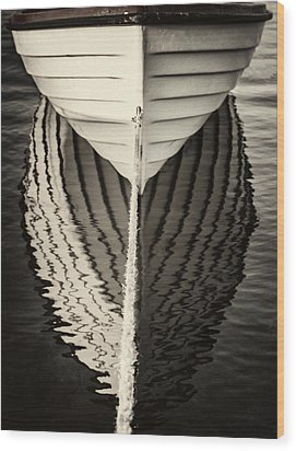 Boat Mirrored Wood Print