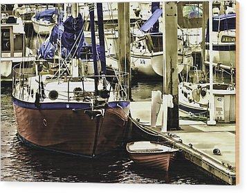 Boat Wood Print by Muhie Kanawati