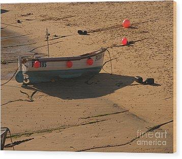 Boat On Beach 04 Wood Print by Pixel Chimp