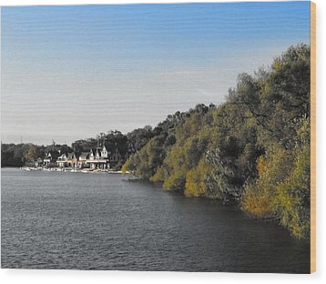 Wood Print featuring the photograph Boathouse II by Photographic Arts And Design Studio