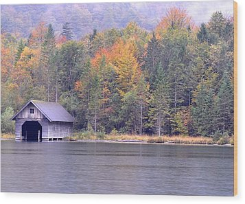 Boathouse On The Koenigsee Wood Print