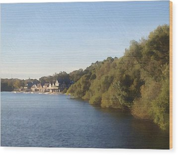 Wood Print featuring the photograph Boathouse by Photographic Arts And Design Studio