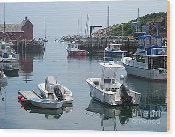 Wood Print featuring the photograph Boats On The Water by Eunice Miller