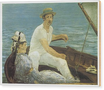 Boating Wood Print by Edouard Manet