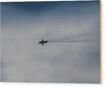Boating Through The Clouds Wood Print by Omaste Witkowski