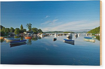 Wood Print featuring the photograph Boats At Balmaha by Stephen Taylor