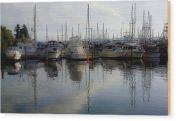 Wood Print featuring the photograph Boats At Marina On Liberty Bay by Greg Reed