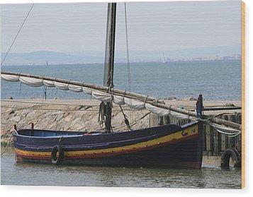 Boat At St Marie Wood Print