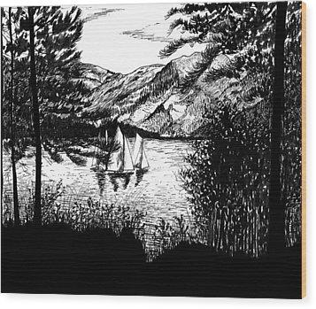 Boats Wood Print by Carl Genovese