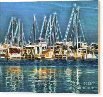 Boats Wood Print by Clare VanderVeen