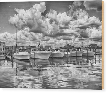 Boats Wood Print by Howard Salmon