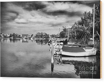 Boats Of Long Beach Island Wood Print by John Rizzuto