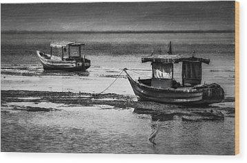 Boats Of Trinidad Wood Print