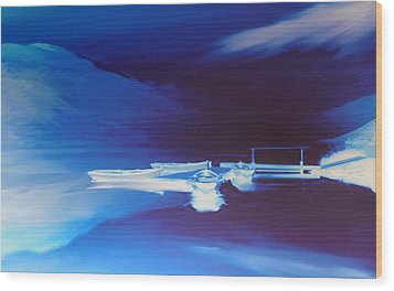 Boats On Bala Wood Print by Neil Kinsey Fagan