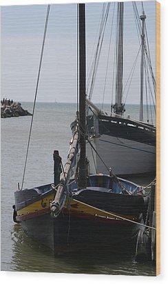Boats Resting Wood Print