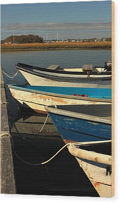 Wood Print featuring the photograph Boats Waiting by Amazing Jules