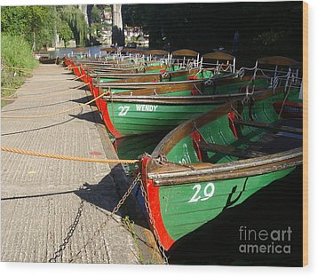 Wood Print featuring the photograph Boats Waiting For Kids by Doc Braham