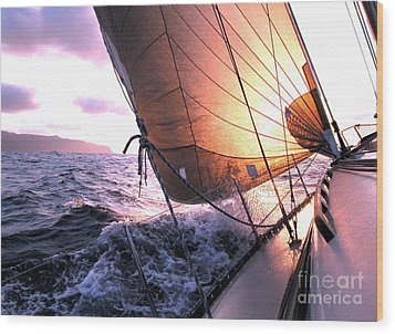 Boats Wing  Wood Print by Boon Mee