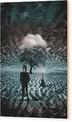Bob Dylan A Hard Rain's A-gonna Fall Wood Print by Mal Bray