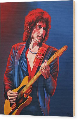 Bob Dylan Painting Wood Print