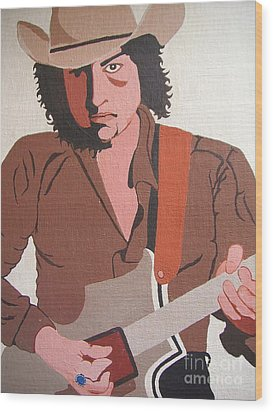Bob Dylan - Celebrities Wood Print