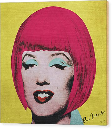 Bob Marilyn  Variant 1 Wood Print by Filippo B