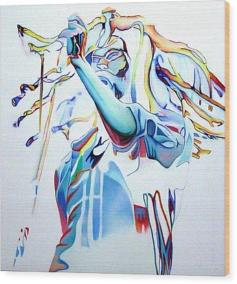 Bob Marley Colorful Wood Print by Joshua Morton