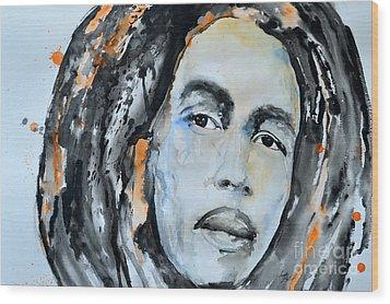 Bob Marley Wood Print by Ismeta Gruenwald