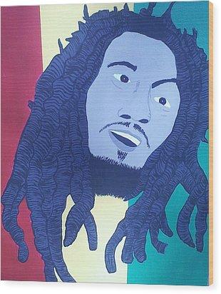 Bob Marley Wood Print by Lew Griffin