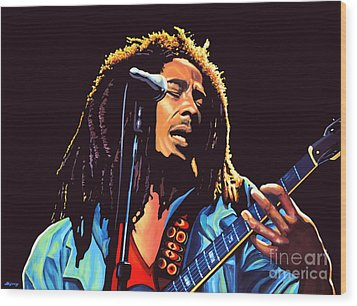 Bob Marley Wood Print by Paul Meijering