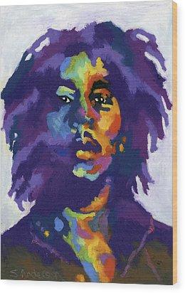 Bob Marley Wood Print by Stephen Anderson