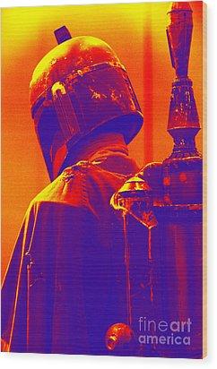Boba Fett Costume 2 Wood Print by Micah May