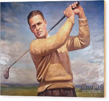 bobby Jones Wood Print