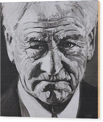 Bobby Robson Wood Print by Steve Hunter