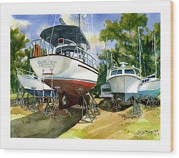 Bobcat Sail Wood Print