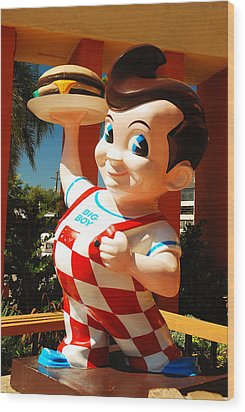 Wood Print featuring the photograph Bob's Big Boy by James Kirkikis