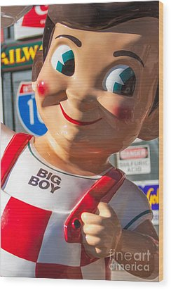 Bob's Big Boy Wood Print by Jerry Fornarotto