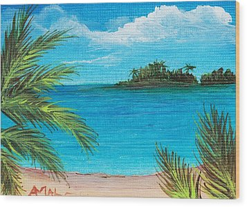 Boca Chica Beach Wood Print by Anastasiya Malakhova