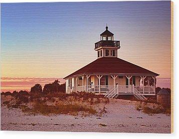 Boca Grande Lighthouse - Florida Wood Print by Nikolyn McDonald