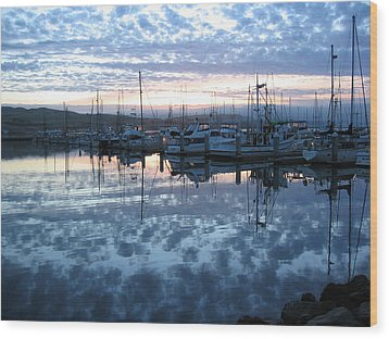 Wood Print featuring the drawing Bodega Bay Sunrise by Dianne Levy