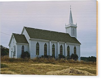 Bodega Church Wood Print by Eric Tressler