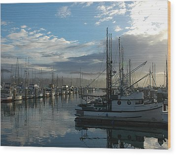 Wood Print featuring the drawing Bodega Fishing Boats by Dianne Levy